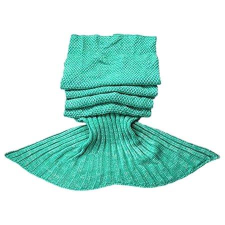 - KingMys Mermaid Tail Crochet Knitting, Best Birthday Christmas Gift, Handmade Living Room Sleeping Blanket