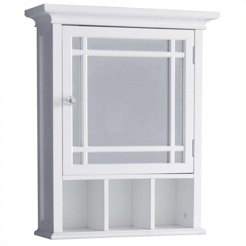 Exceptionnel Elegant Home Fashions Neal 1 Door Medicine Cabinet In White