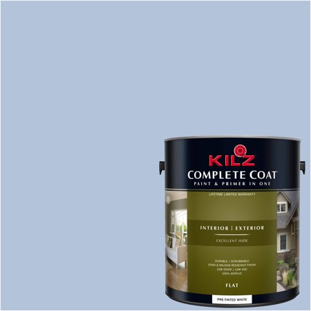 Complete Rail - KILZ COMPLETE COAT Interior/Exterior Paint & Primer in One #RC190-01 Rain Reflection