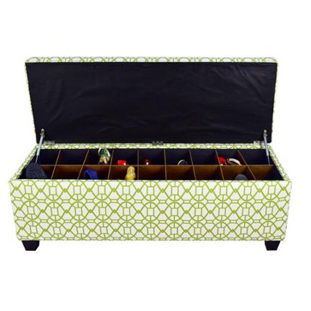 The Sole Secret Noah Summertime Button Tufted Shoe Storage Bench Large