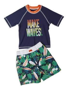 iXtreme Boys Make Waves Rashguard and Swim Trunk Short Set Sizes 4-7