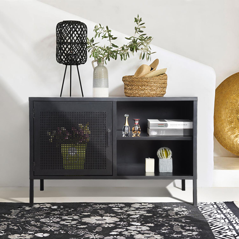 Furniturer Modern Buffet Entryway Bar Cabinet Storage Entry Table Living Room Black Walmart Canada