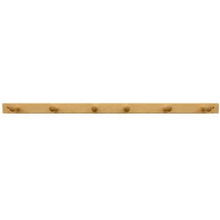 91528 6 Peg Natural Lacquer Wood Rack ()