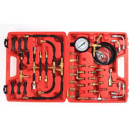 Professional Master Fuel Injection Pressure Tester Gauge Kit System 0 100 Psi Bye