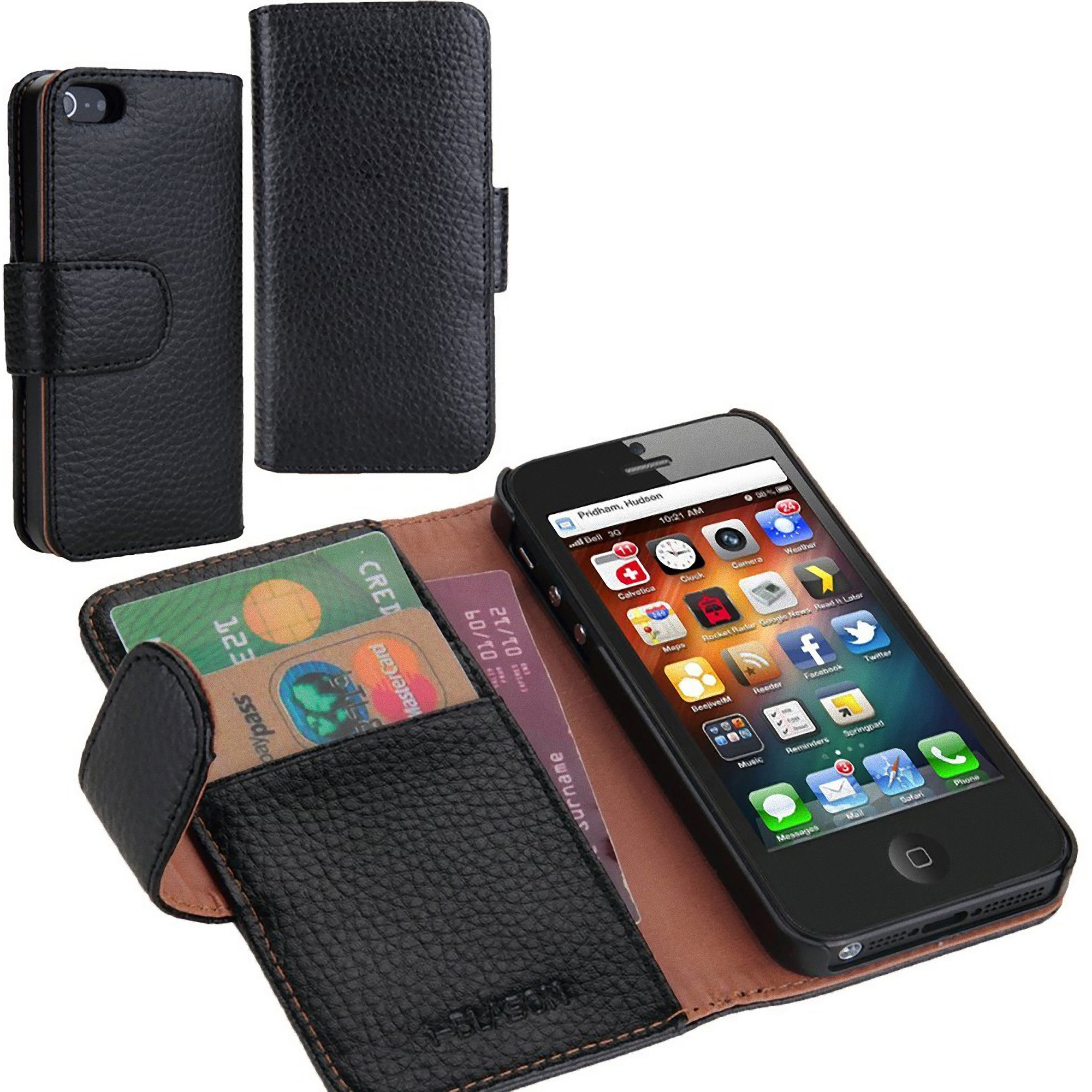 i-Blason Slim Leather Book Wallet Cover for Apple iPhone 6 & 6S