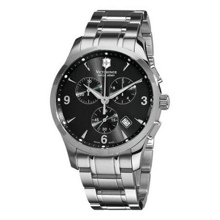 Swiss Army Men S 241478 Alliance Black Dial Stainless Steel Bracelet