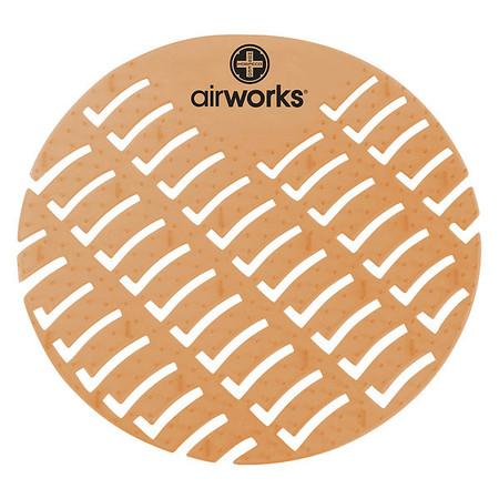 Urinal Screen,Round,Cinnamon,PK60 AIR WORKS AWUS006