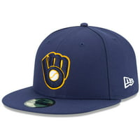 Milwaukee Brewers New Era Alternate 2 Authentic On Field 59FIFTY Fitted Hat - Navy