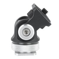 LYUMO Mini Hot Shoe Mount Monitor Microphone Flash Holder 1/4 Inch Screw Camera Bracket, Microphone Holder, Hot Shoe Mount