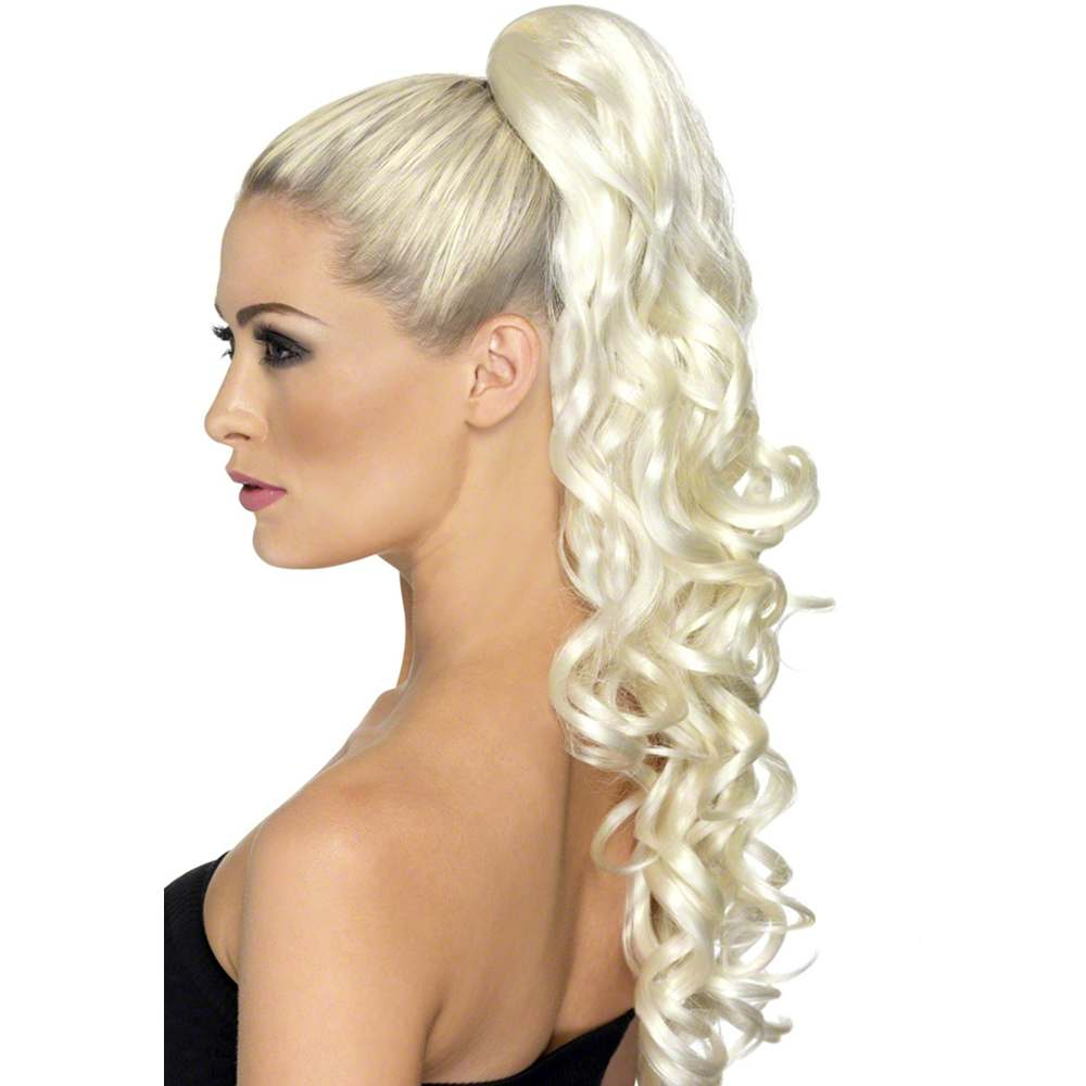 Divinity Curly Blonde Clip-On Ponytail