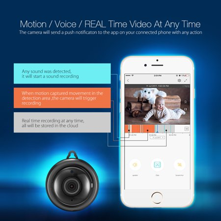 DIGOO Security Camera,960P Smart Home Wireless WiFi Camera with