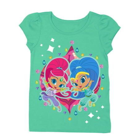 - Shimmer & Shine Short Sleeve Puff Tee (Toddler Girls)