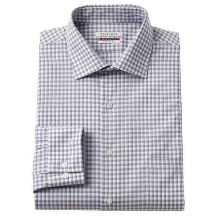 Collar Plaid Dress Shirt (Van Heusen Men's Flex Collar Classic-Fit Plaid Dress)