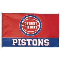 WinCraft Detroit Pistons 3' x 5' Wordmark Flag