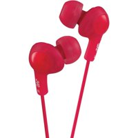 JVC HAFR6R Gumy Plus Earbuds with Remote & Microphone (Red)