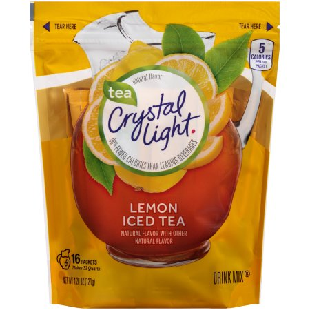 (6 Pack) Crystal Light Lemon Iced Tea Drink Mix, 4.26 oz Pouch (16 Pitcher Pack)