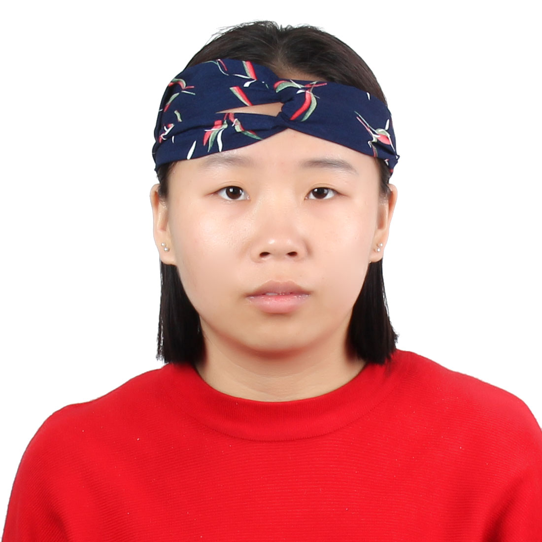MULTI COLOUR STRIPES KNOTTED HEADWRAP HAIR WRAP SELF TIE HEADBAND LADIES NEW