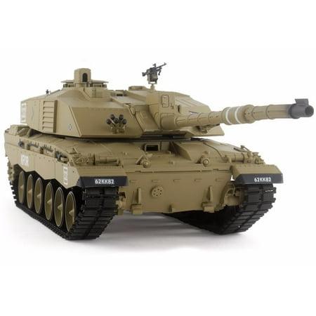 2.4Ghz Radio Remote Control 1/16 British Challenger 2 RC Airsoft Battle Tank w/Sound & Smoke R/C -