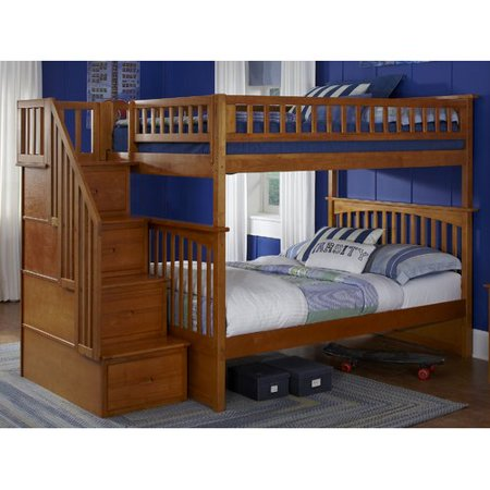Harriet Bee Abel Staircase Full Over Full Bunk Bed Walmart Com