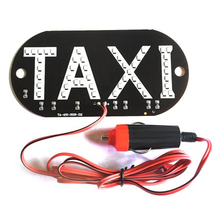 12V Taxi Cab Windscreen Windshield Sign LED Light Lamp Bulb with Suction Disc Cigarette lighter