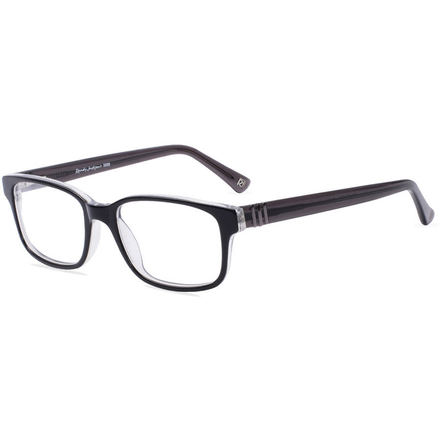 randy jackson mens prescription glasses 3009 black smoke walmartcom
