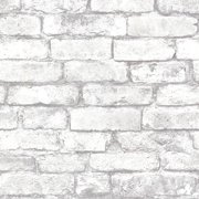 Beacon House Brickwork Light Grey Exposed Brick Wallpaper