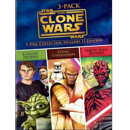 Star Wars The Clone Wars Volumes 3-Pack (DVD)