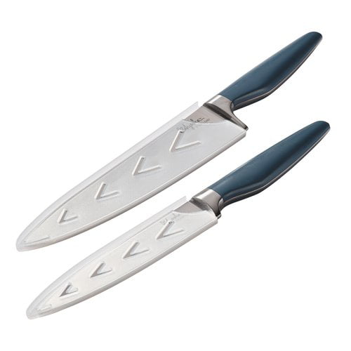 Ayesha Curry Japanese Steel Cooking Knife Set, Twilight Teal, 2-Piece by Meyer Corporation