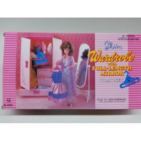 Gloria Wardrobe Play Set Barbie Doll Size Doll House Furniture Set