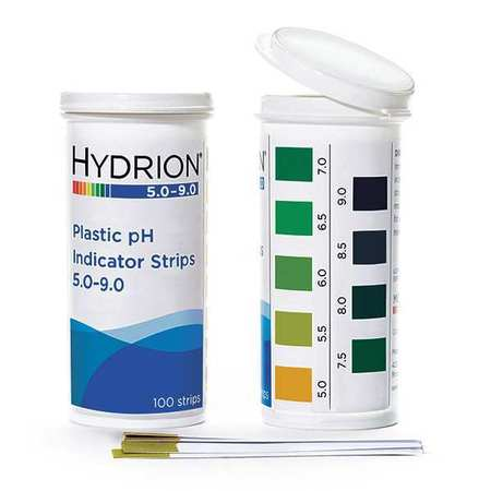 MICRO ESSENTIAL 9400 pH Strips, Hydrion Spectral, 5-9, PK 100