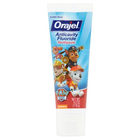 Orajel Paw Patrol Bubble Berry Anticavity Fluoride Toothpaste  4 2 Oz