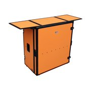 ProX Transformer Series Fold Away DJ Performance - Table - rectangular - black, orange