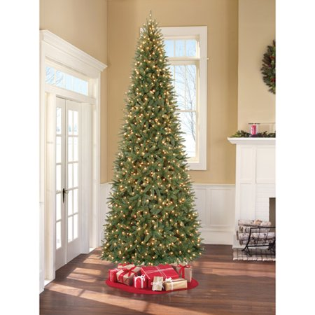 Holiday Time Pre Lit 12 Slim Pe Pvc Williams Artificial Christmas Tree