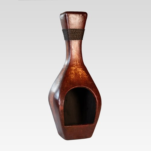 REZ Furniture Bottle Clay Wood Burning Chiminea by