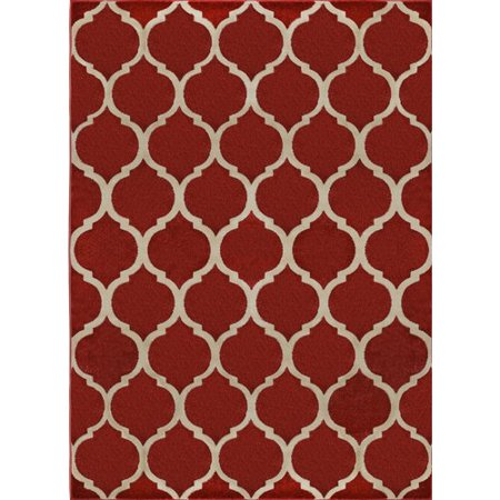 Charlton Home Gainer Zone rouge Tapis