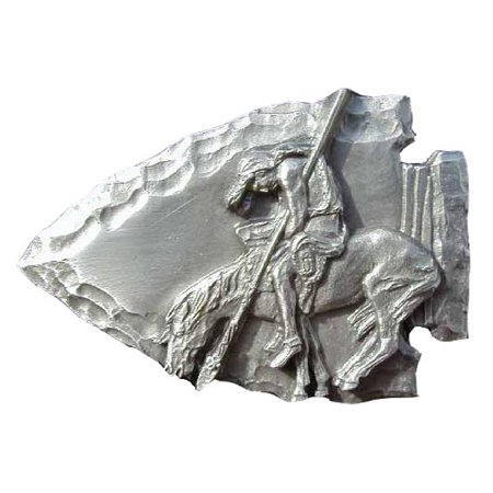 End Of The Trail On Arrowhead Novelty Belt Buckle ()