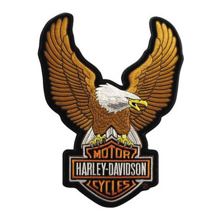 Harley Davidson Motorcycle Patches (Harley-Davidson Up Wing Eagle Brown Patch SM 2 5/8'' x 3 3/4'' EMB328392, Harley)