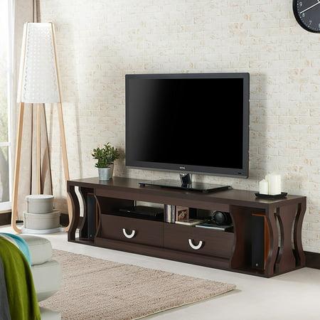 Furniture Of America Barclan Contemporary Slatted Multi Storage