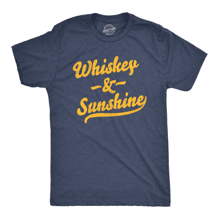 Mens Whiskey And Sunshine Tshirt Funny Summer Drinking