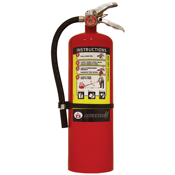 Badger Advantage Fire Extinguisher 10 lb. ABC Dry Chemical Fire Extinguisher w/ Wall Hanger