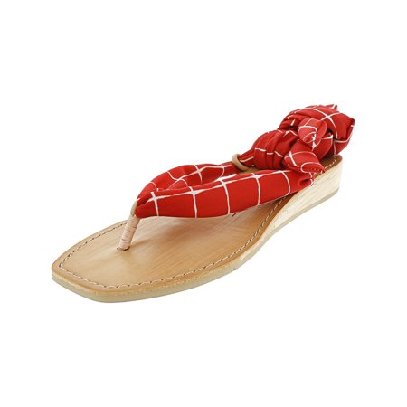 Dolce Vita Moccasins - Dolce Vita Women's Henlee Red Ankle-High Fabric Wedged Sandal - 6M
