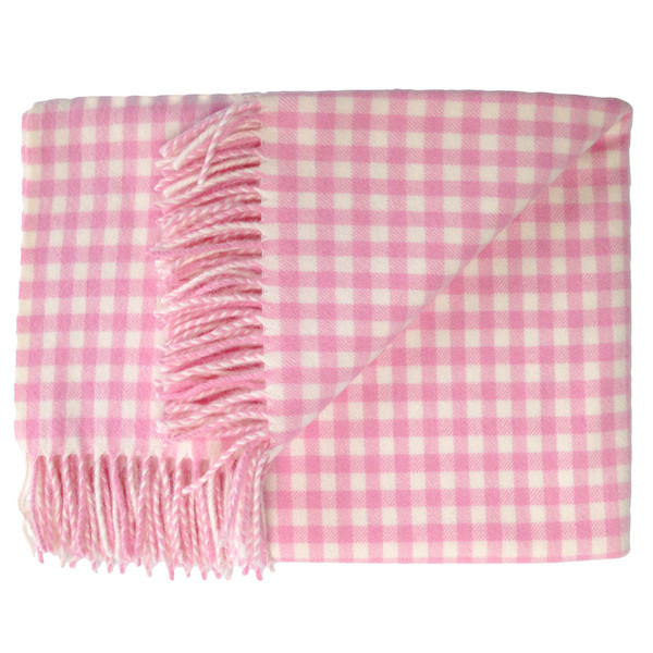 English Stroller Blanket ~ Pink/White Gingham [Baby Product]