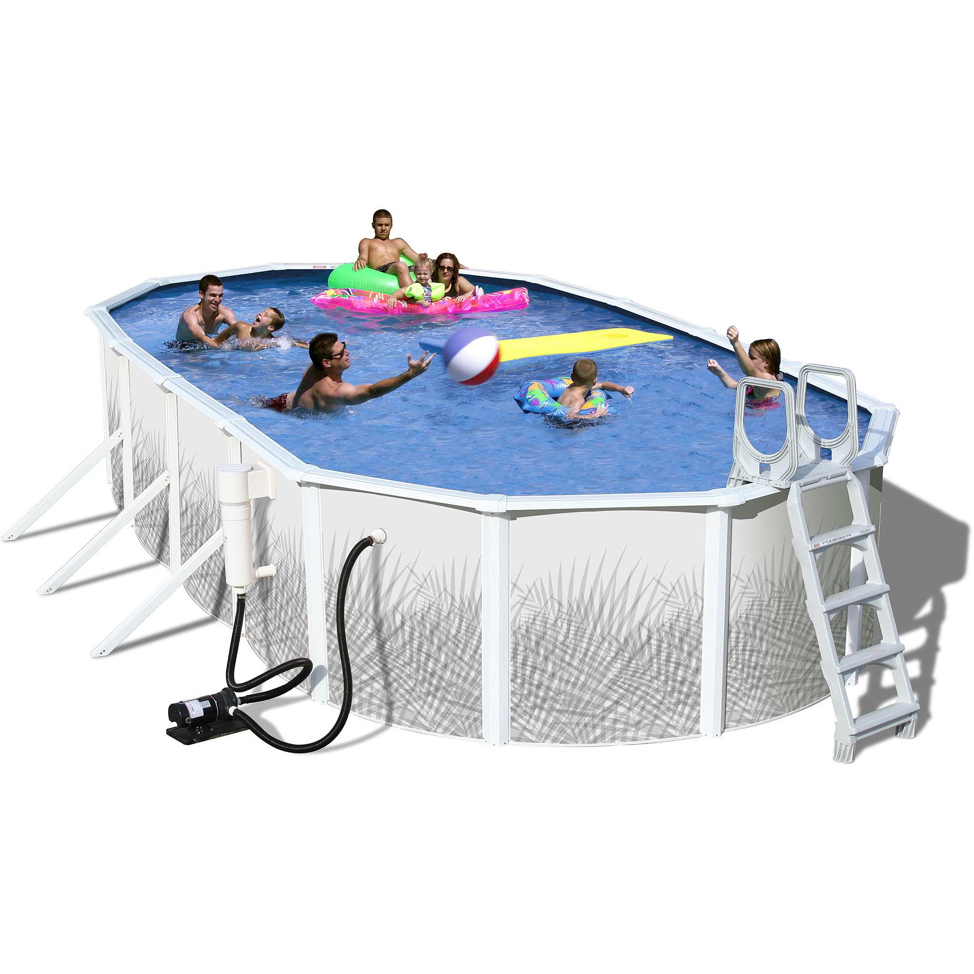 "Heritage Oval 12' x 48"" Deep Complete Above Ground Swimming Pool"