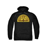 Sun Records Media Record Label Traditional Logo Adult Pull-Over Hoodie
