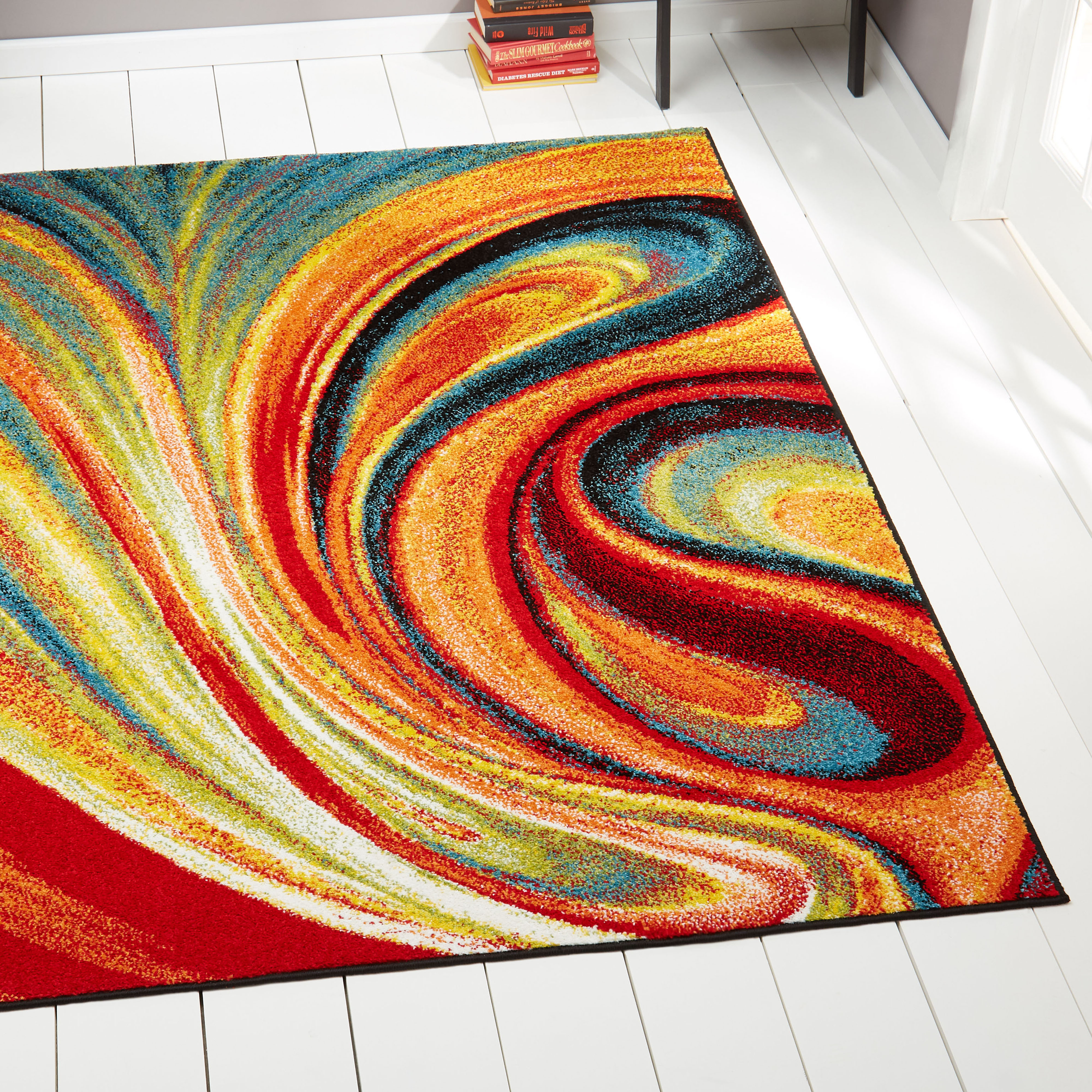 Home Dynamix Splash Collection Multi-Colored Contemporary Area Rug for Modern Home Decor