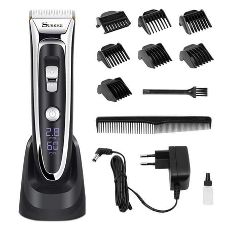 Dilwe Electric Clipper, Hair Cutter Razor Shave Sled Rechargeable Low Noise High Precision Hair Trimmers Beard Trimmer for Men
