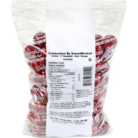 Celebration by SweetWorks Red Gumballs, 2 lbs