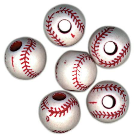 Team Sports Beads 12Mm-Baseball 12/Pkg