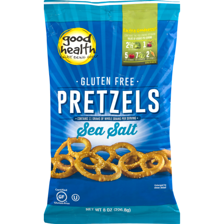 Good Health Gluten Free Pretzels with Sea Salt 8 oz. Bag (4 Bags) ()