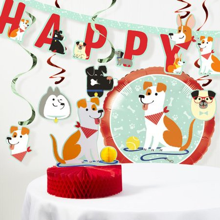 The Holiday Aisle Mckenna Dog Party Birthday Decorations Kit (Party Supplies For Dogs Birthday)